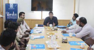 sohail Balkhi at Media workshop Alkhidmat Foundation Sindh