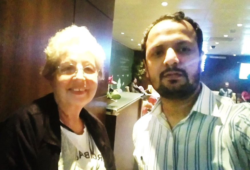 shoaib hashmi jeddah airport with Italian lady